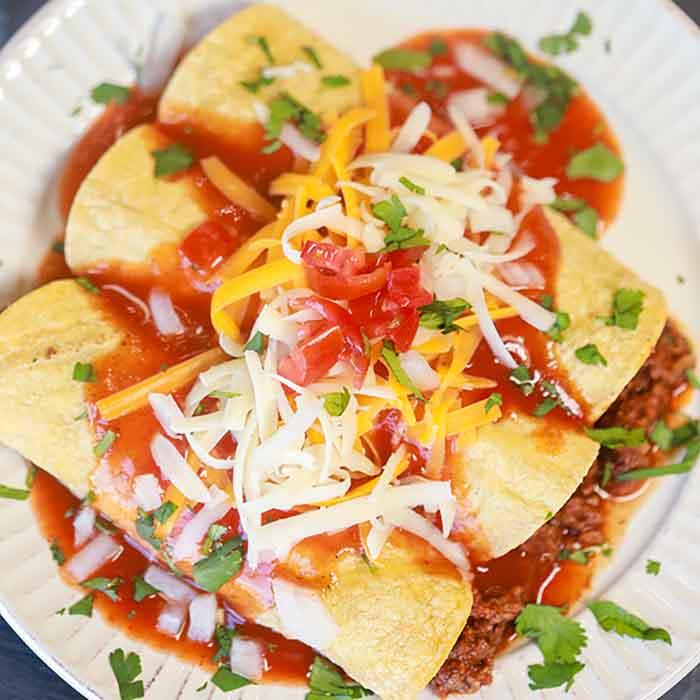 Easy Ground Beef Enchiladas Recipe