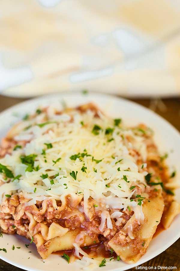 Crock Pot Ground Turkey Lasagna Recipe Easy Crockpot Lasagna