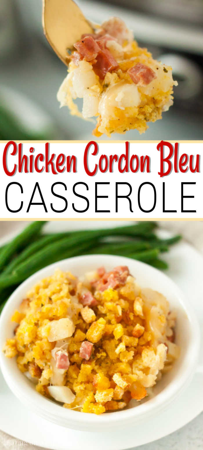 Dinner just got easier thanks to this simple Chicken Cordon Bleu Casserole recipe. Now you can enjoy chicken cordon blue during busy weeknights.