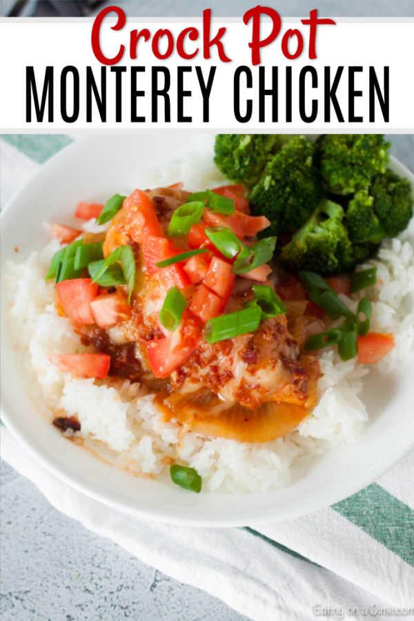 Crock Pot Monterey Chicken Recipe - Easy Monterey Chicken