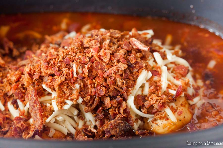 monterey chicken in crock pot with bacon