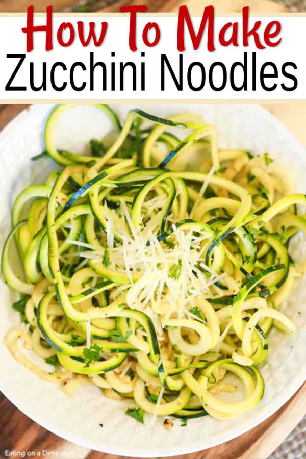 Zucchini Noodles Recipe , Easy and Healthy Zoodle Recipe