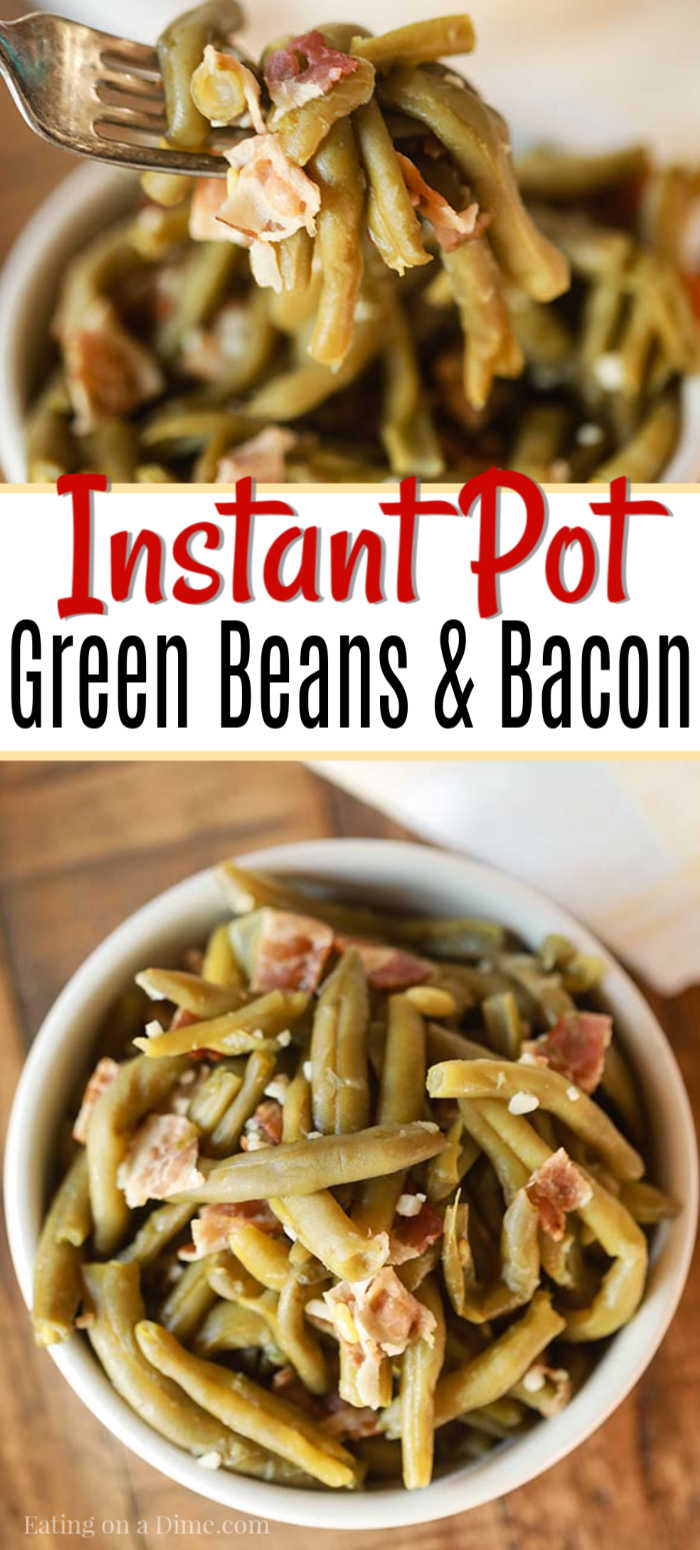 You can enjoy Instant Pot Green Beans and Bacon Recipe that taste like they have been slow cooked all day. Enjoy this flavor packed side dish in minutes.