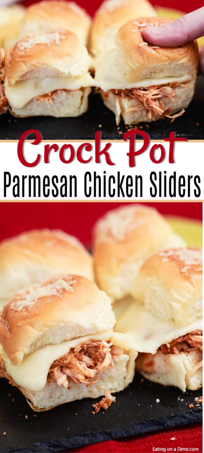 Crock Pot Chicken Parmesan Sliders The Best Chicken