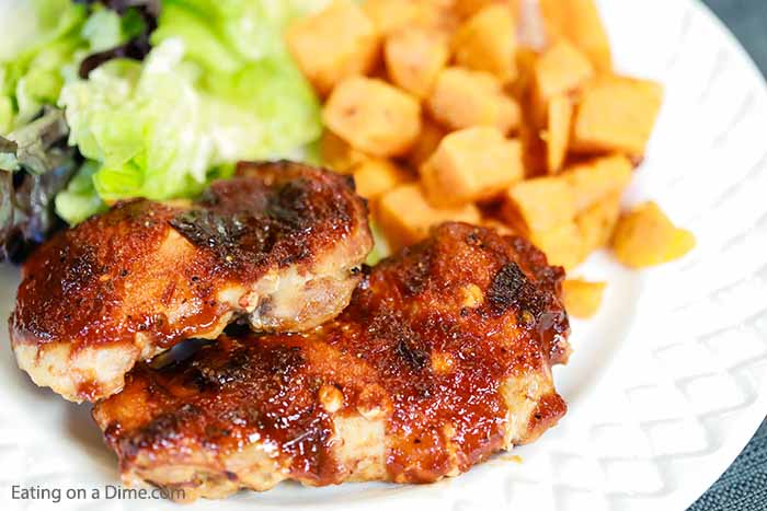Crock pot chipotle bbq chicken thighs recipe has all the chipotle flavor you love with the ease of slow cooking. Try this easy and delicious chicken recipe.