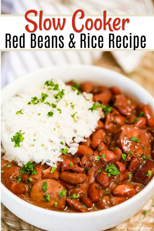 Crock Pot Red Beans And Rice Recipe Easy Crock Pot Red Beans And Rice