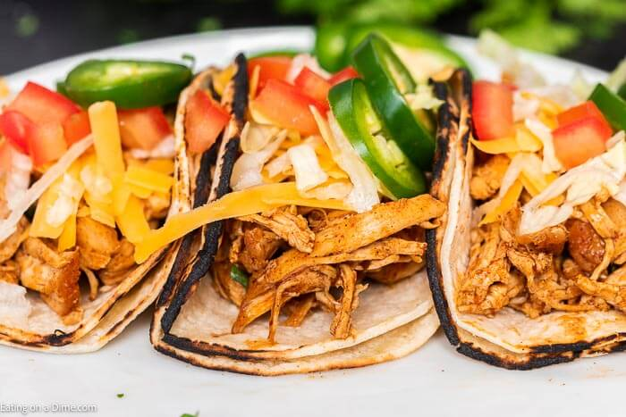Instant Pot Chicken Tacos Only 3 Simple Ingredients