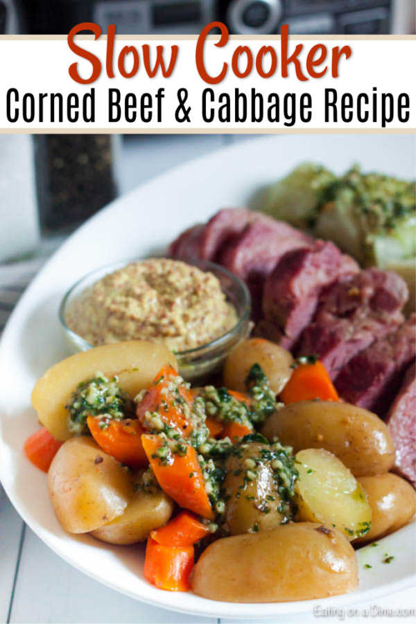 Learn how to make traditional Crock pot corned beef and cabbage that is so tender and flavorful. Everything you need for a great meal is in the slow cooker.