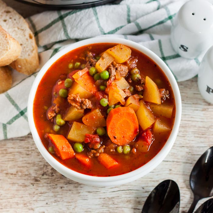 Instant Pot Ground Beef Stew Recipe Easy Instant Pot Hamburger Soup