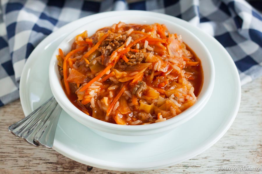Our family loves Crockpot Cabbage Roll Soup Recipe and it has everything you need for a great meal. You will love this one pot meal that is so easy to make.