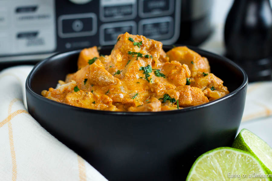 Turn plain chicken into delicious Crock pot butter chicken recipe. Your family will enjoy this flavorful and creamy sauce with curry flavor and more.
