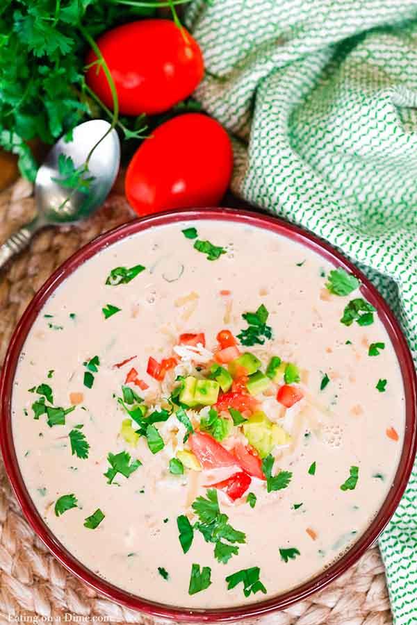 Crock Pot Cream Cheese Chicken Chili Recipe Easy Dinner Idea
