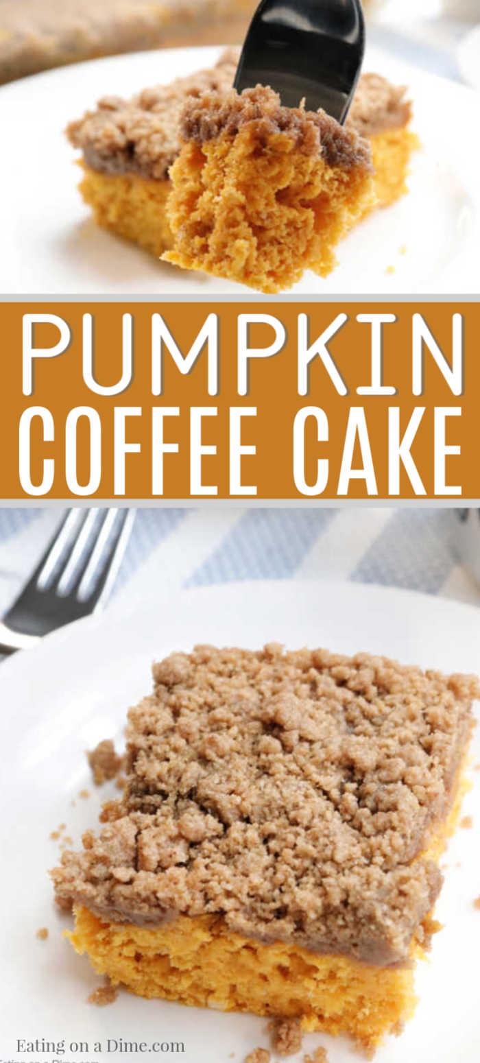 Pumpkin Coffee Cake Recipe - Easy Pumpkin Streusel Coffee cake