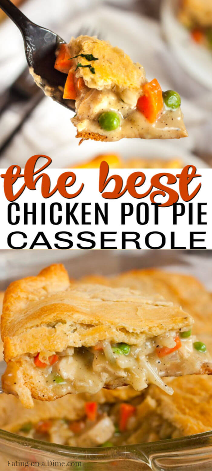 Chicken Pot Pie Casserole Recipe is one of those meals that everyone will love. It is easy to make and so amazing with the crescents and chicken mixture.