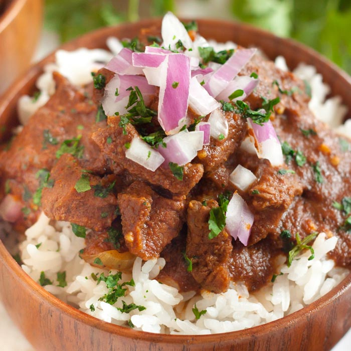 Crock pot beef curry recipe turns inexpensive beef into a tender and delicious meal full of flavor. The curry sauce is amazing over rice and easy to make.