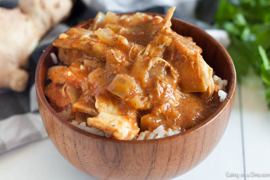 Crock pot Chicken Tikka Masala Recipe is so easy to make Serve this tender chicken and flavorful curry sauce over rice for a meal your family will love.