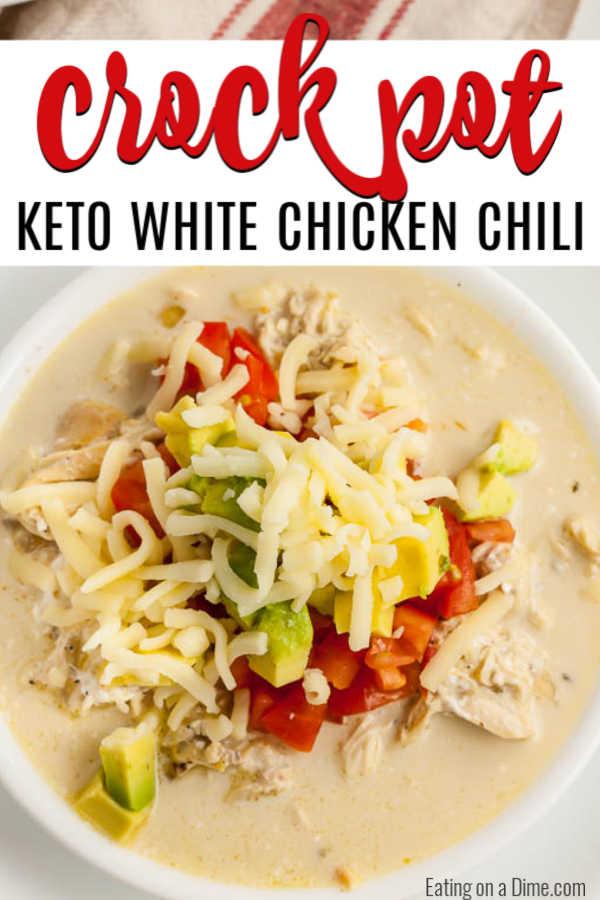 Crock Pot Keto White Chicken Chili Recipe Best Keto Chili