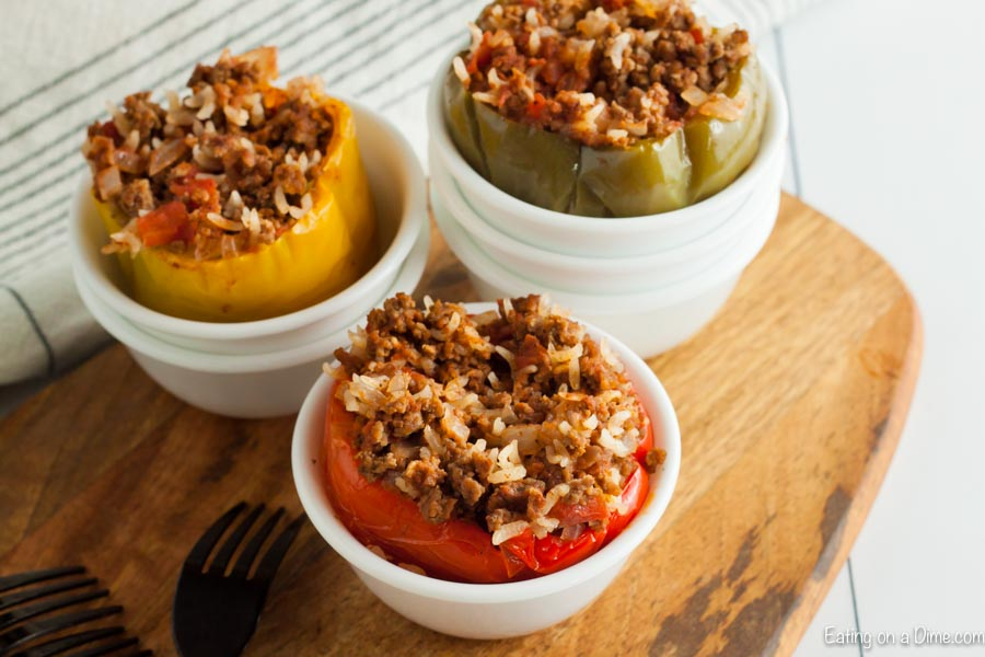Get dinner on the table fast with this Instant pot stuffed peppers recipe. In just 7 minutes, your family can enjoy delicious instant pot stuffed peppers.
