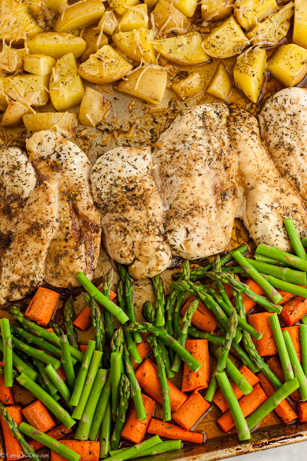 Sheet pan balsamic chicken is a one pan meal with everything you need for a complete dinner. Enjoy balsamic chicken and tender veggies for the best dinner.