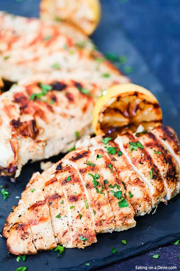 Jazz up plain chicken with this tasty Grilled Lemon Pepper Chicken Recipe. The chicken is so tender and the marinade is light and delicious.