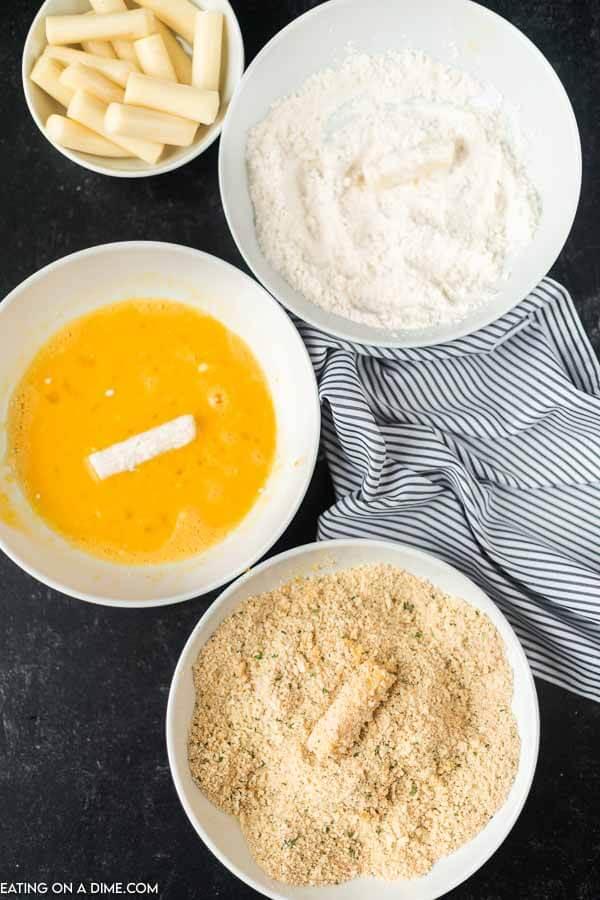 how to make mozzarella cheese sticks