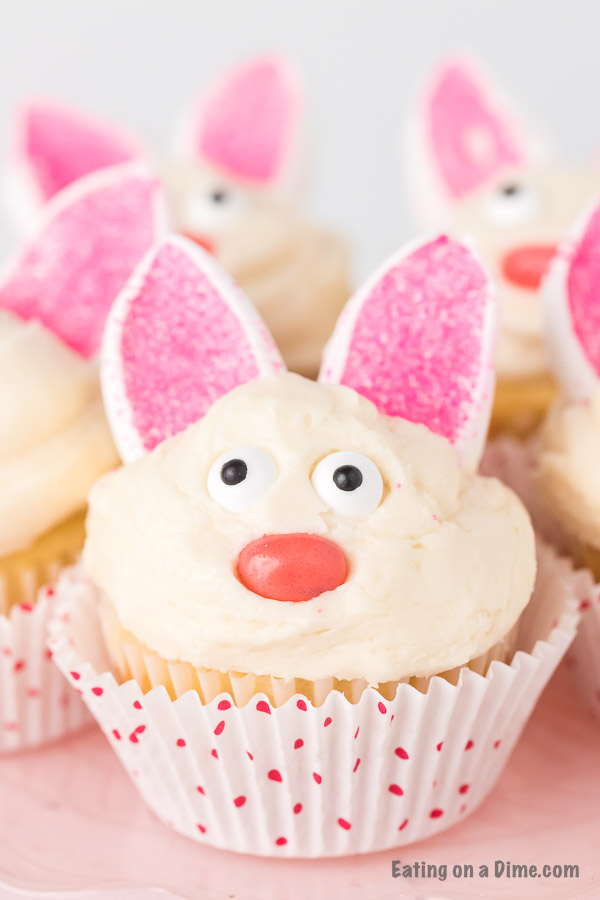 Easter to make bunny cupcakes in minutes! These quick and easy Easter Bunny Cupcakes are adorable but also taste great.
