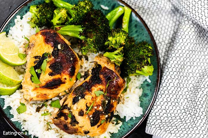 Mojo Chicken Recipe is a delicious citrus infused recipe served over rice with your favorite vegetable. The slow cooker makes this meal effortless.