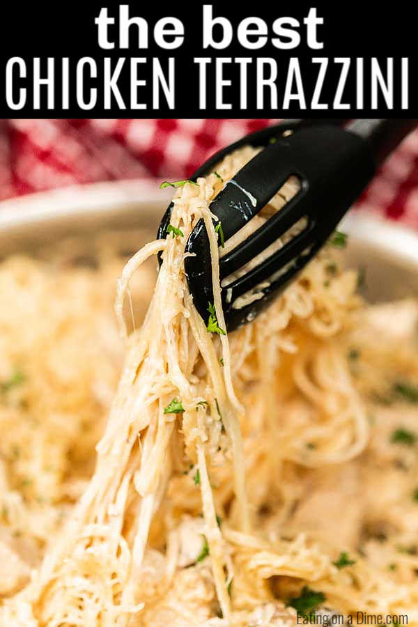 Easy Chicken Tetrazzini Recipe is a simple skillet meal perfect for weeknights. The tasty cream sauce brings it all together and makes the dish amazing!