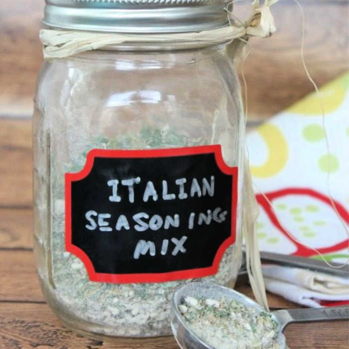 This Copycat Good Seasons Italian Dressing Mix recipe is easy to make and saves you a ton of money. Use it for more than just dressing!