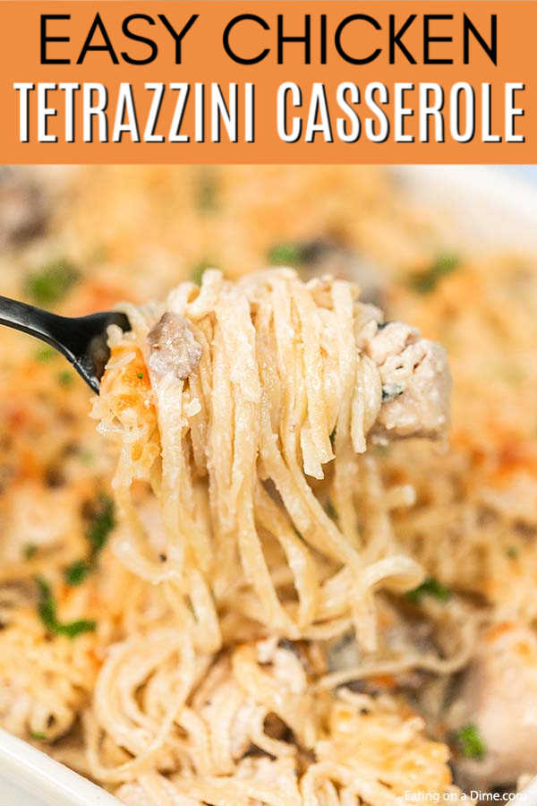 Easy Chicken Tetrazzini Casserole Recipe has everything you need for a great meal. The creamy chicken and pasta come together for the best comfort food.