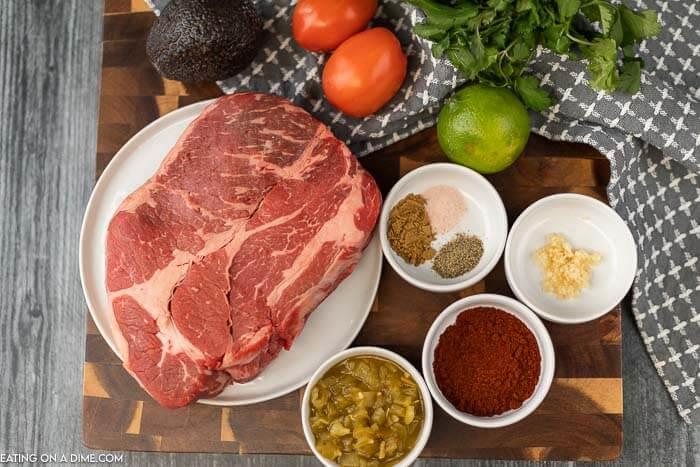 crock pot mexican shredded beef ingredients