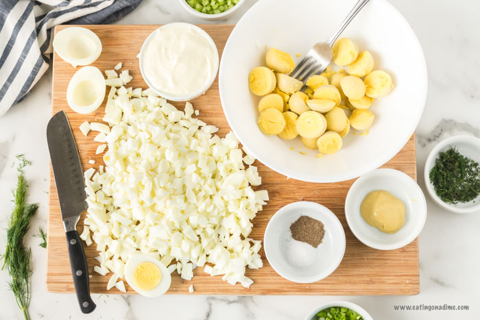 Keto egg salad recipe is a tasty low carb recipe that is so flavorful. This easy meal comes together with very little effort and tastes great over lettuce.