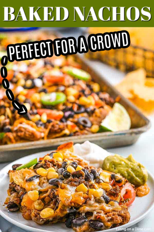 Oven nachos are delicious and perfect to feed a crowd. You can fix sheet pan nachos in minutes and everyone can enjoy their favorite toppings!