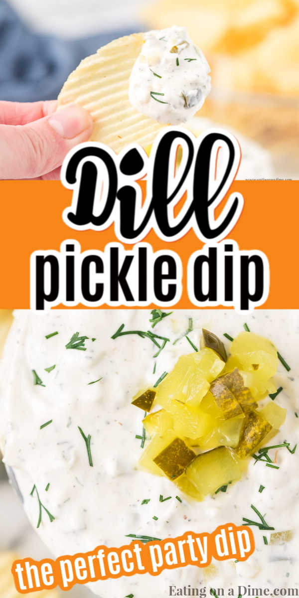 This Dill Pickle Dip Recipe is delicious for dipping vegetables, chips or crackers. You only need a few ingredients and everyone will love dill pickle dip!