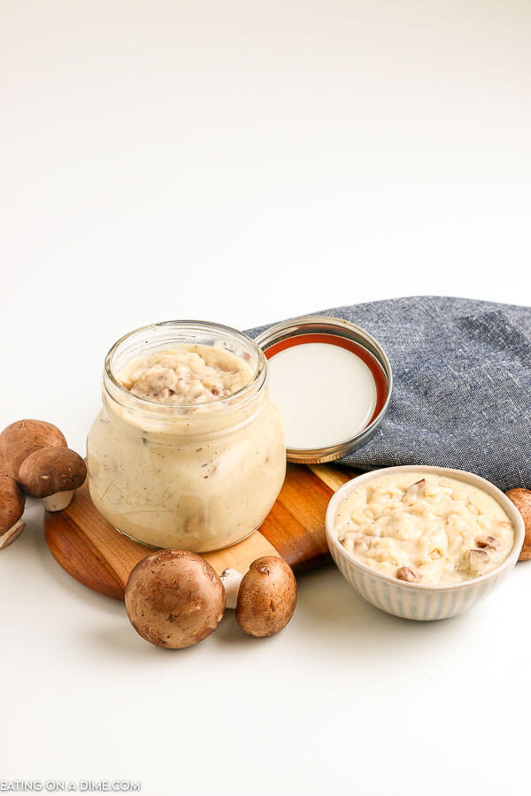 It is so easy to make homemade cream of mushroom soup. Don't buy the canned stuff and make this easy recipe at home. It tastes amazing!