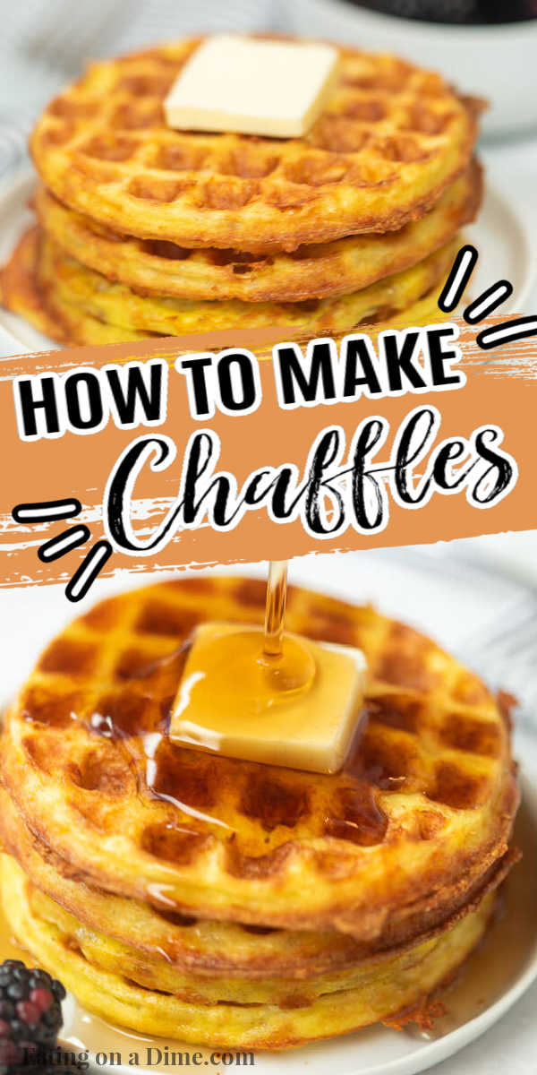 Learn how to make a chaffle that is great if you are following a Keto or low carb diet. This chaffle recipe is easy to make with just 3 ingredients. This simple chaffle recipe keto easy can be made in minutes with just a few ingredients. You are going to love this easy chaffle recipe. #eatingonadime #chafflerecipe #ketorecipes #lowcarbrecipes