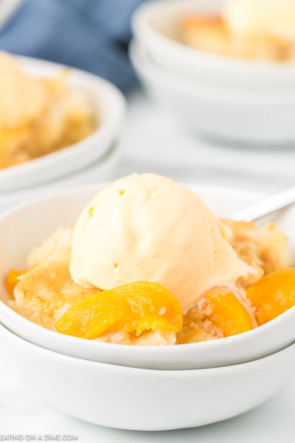 Come home to the best Crock pot peach cobbler recipe all ready to enjoy. The slow cooker does all of the work and we love it with ice cream.