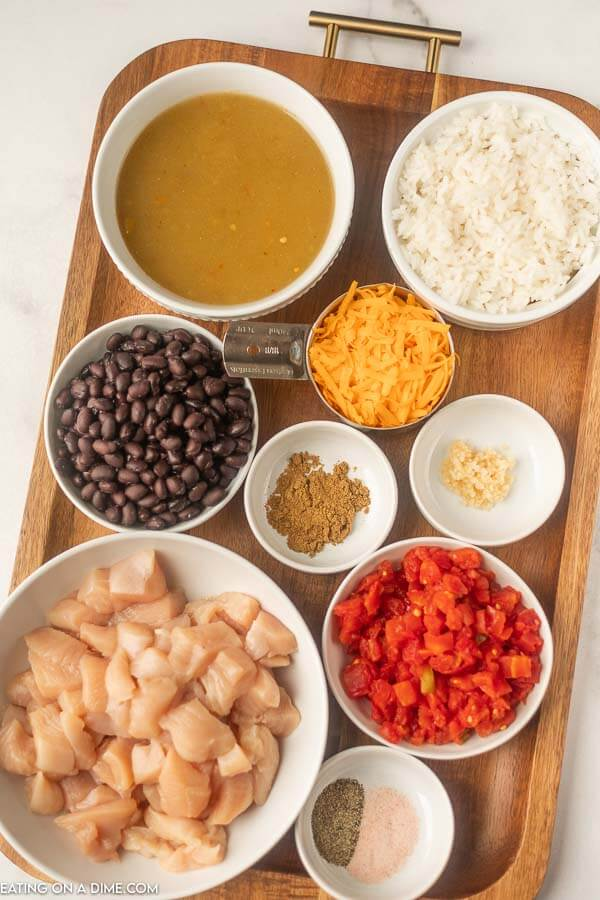 Ingredients needed for Enchilada Chicken Foil Packet Meal