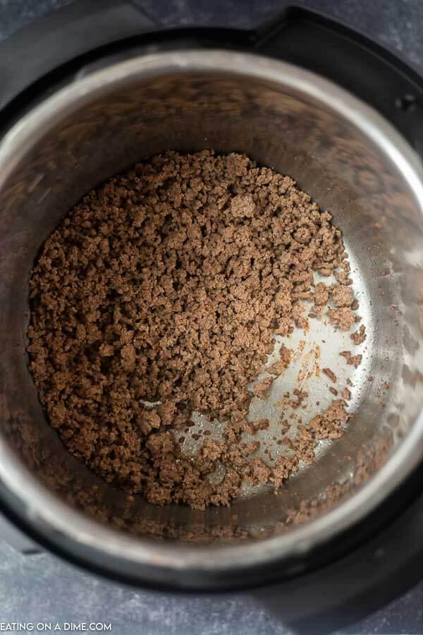 ground beef in pressure cooker