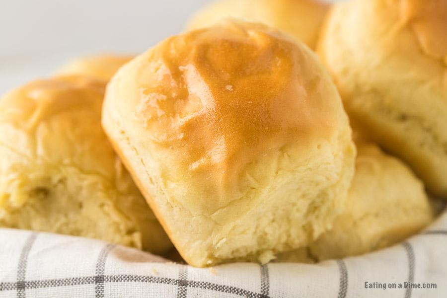 homemade rolls in a basket