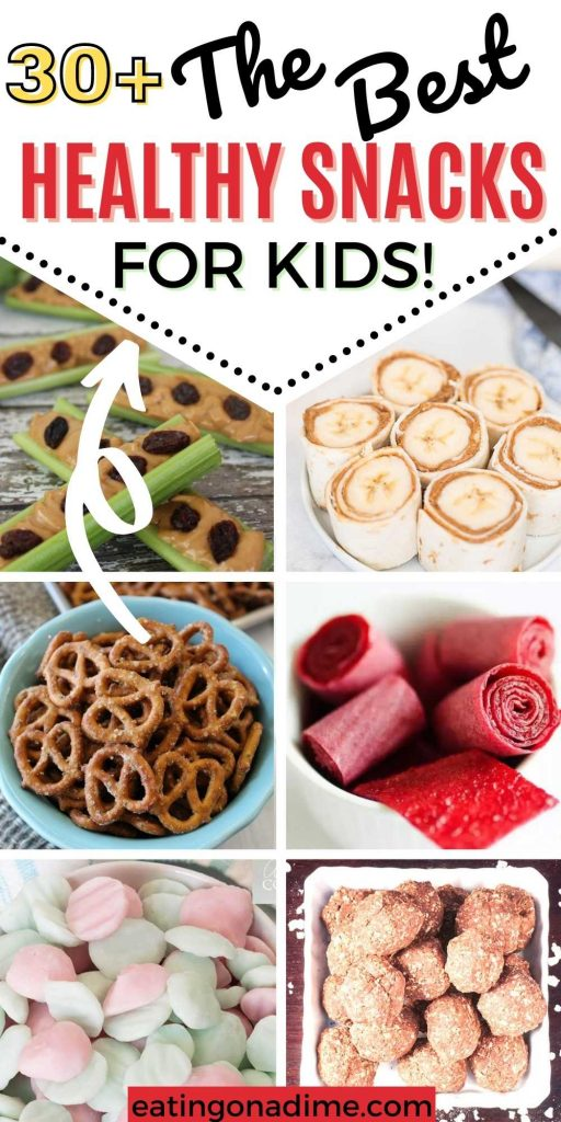 Kids will love these healthy snacks for toddlers. It can be difficult to get kids to eat healthy snacks but these easy ideas are sure to be a hit. You are going to love these healthy snack recipes for kids or for adults.  #eatingonadime #snackrecipes #kidfriendlyrecipes #healthysnacks