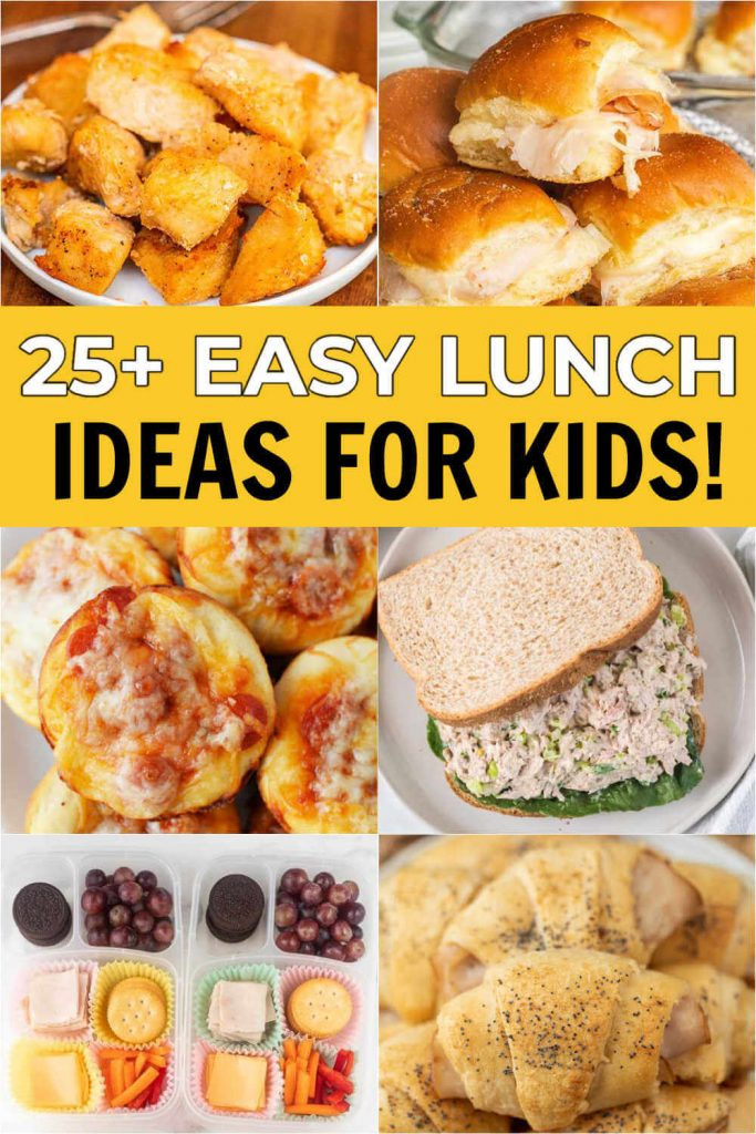 We have Easy lunch ideas for kids that will make lunch time less stressful. All of these easy tasty lunch ideas are frugal, quick and so delicious. Everyone will love these easy lunch ideas for kids!  #eatingonadime #lunchrecipes #lunchideas #kidlunches