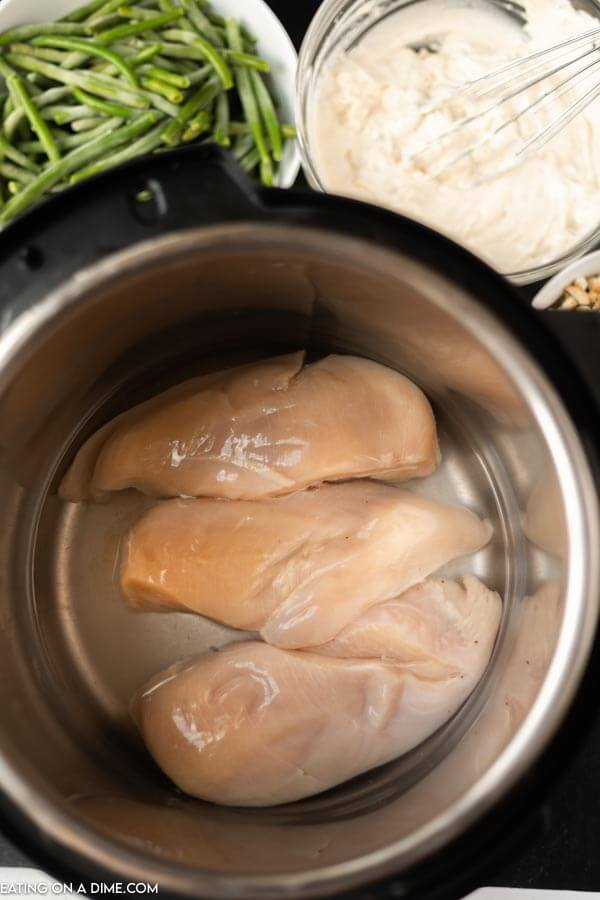 Close up image of chicken breast in the instant process before cooking.