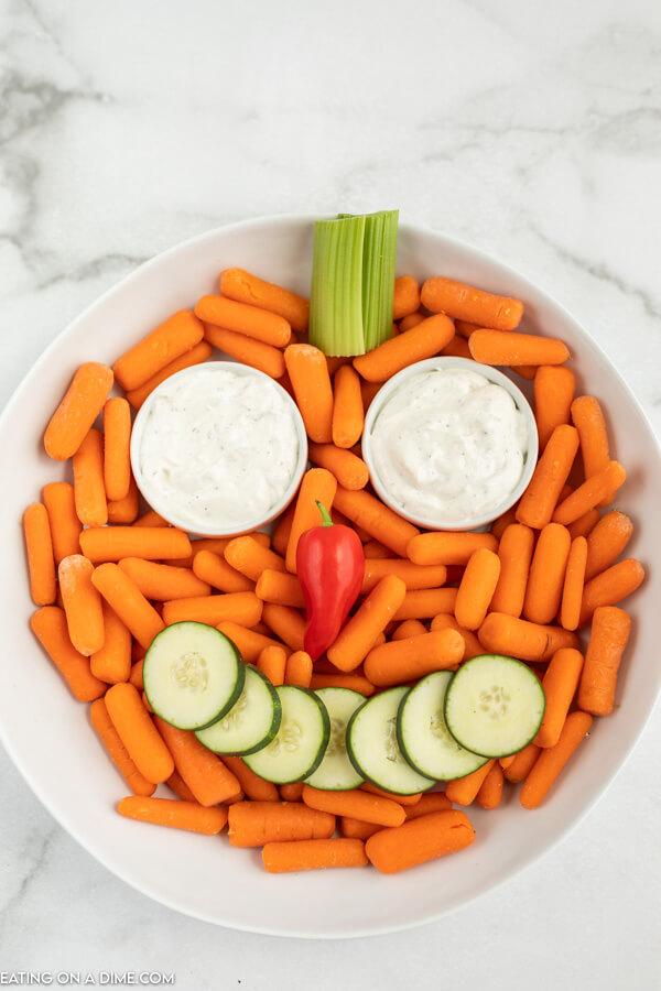 jack o lantern vegetable tray