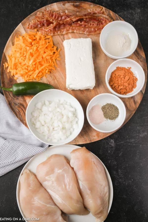 Ingredients for Jalapeno Popper Chicken Soup.
