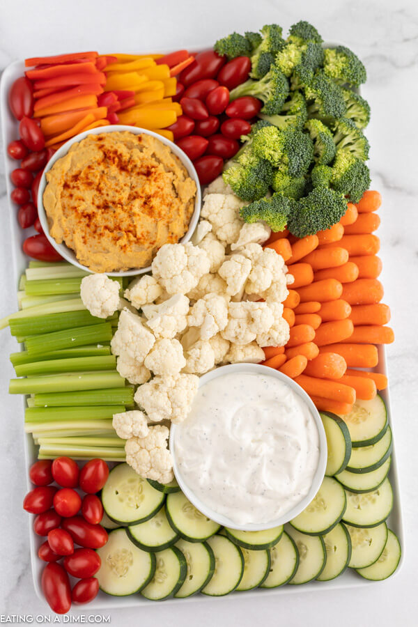 vegetable tray with dip