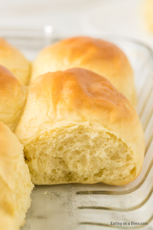 rolls in baking dish