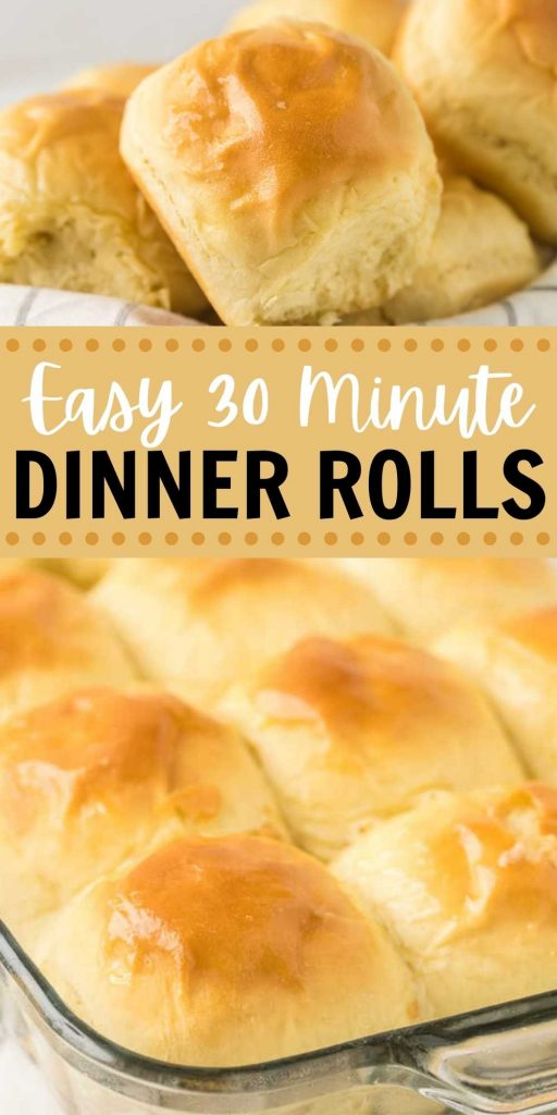 So super easy to make and taste delicious too!  These 30-Minute Dinner Rolls are the perfect addition to any meal and are great for the holidays too! #eatingonadime #30minuterecipe #roll #bun #side #easyrecipe #holidayrecipes