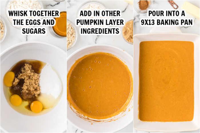 making the pumpkin filling