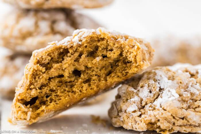 close up photo of pumpkin cookies